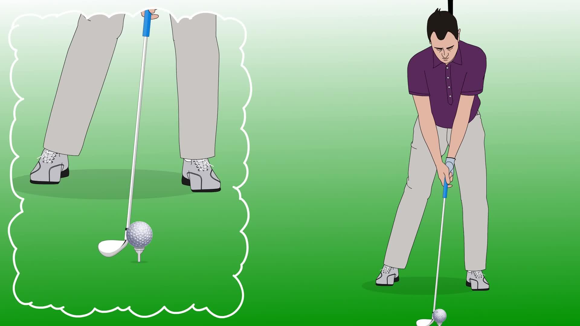 Memegang tongkat golf